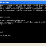 Telnet on windows to check mail server using SMTP commands