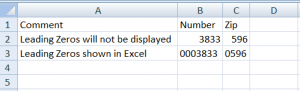 Leading Zeros in Excel with CSV