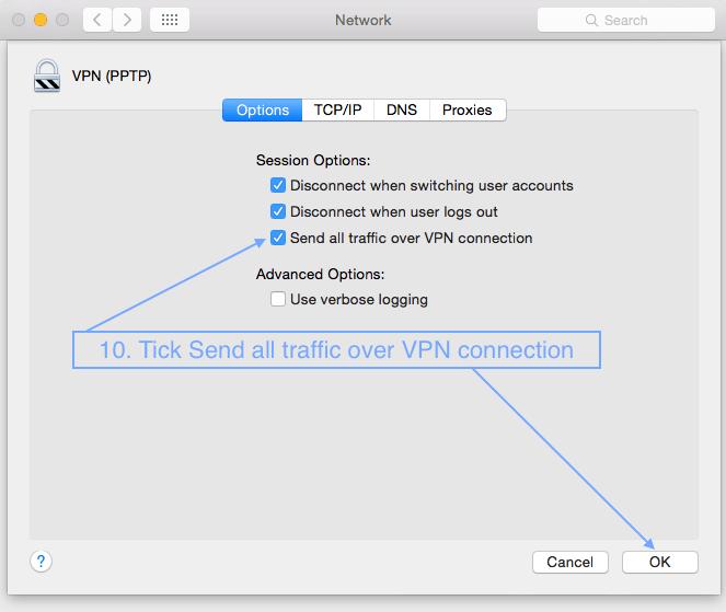 Vpn connection same ip range